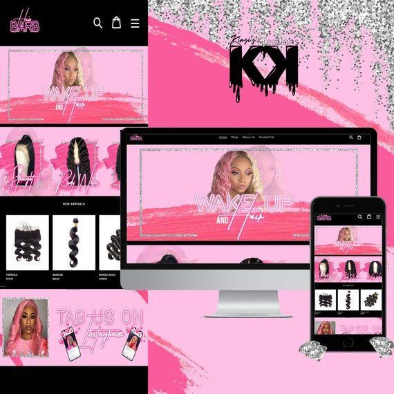 Makeup Website Makeup Vendor Shopify Website Makeup boutique Premade Website