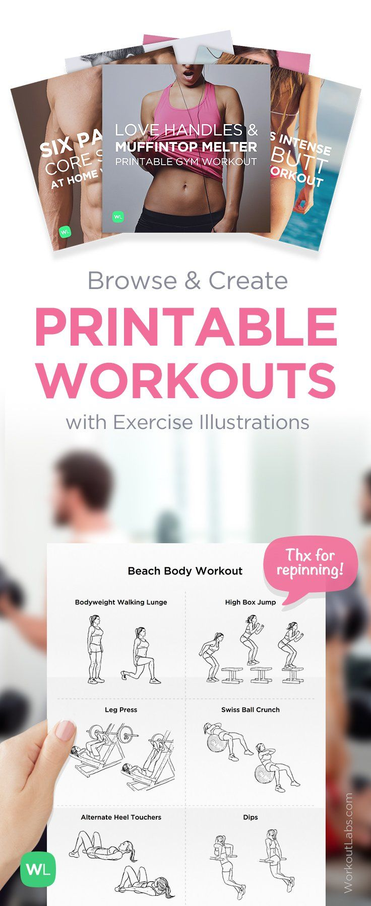 It's just an image of Hilaire Printable Gym Workouts