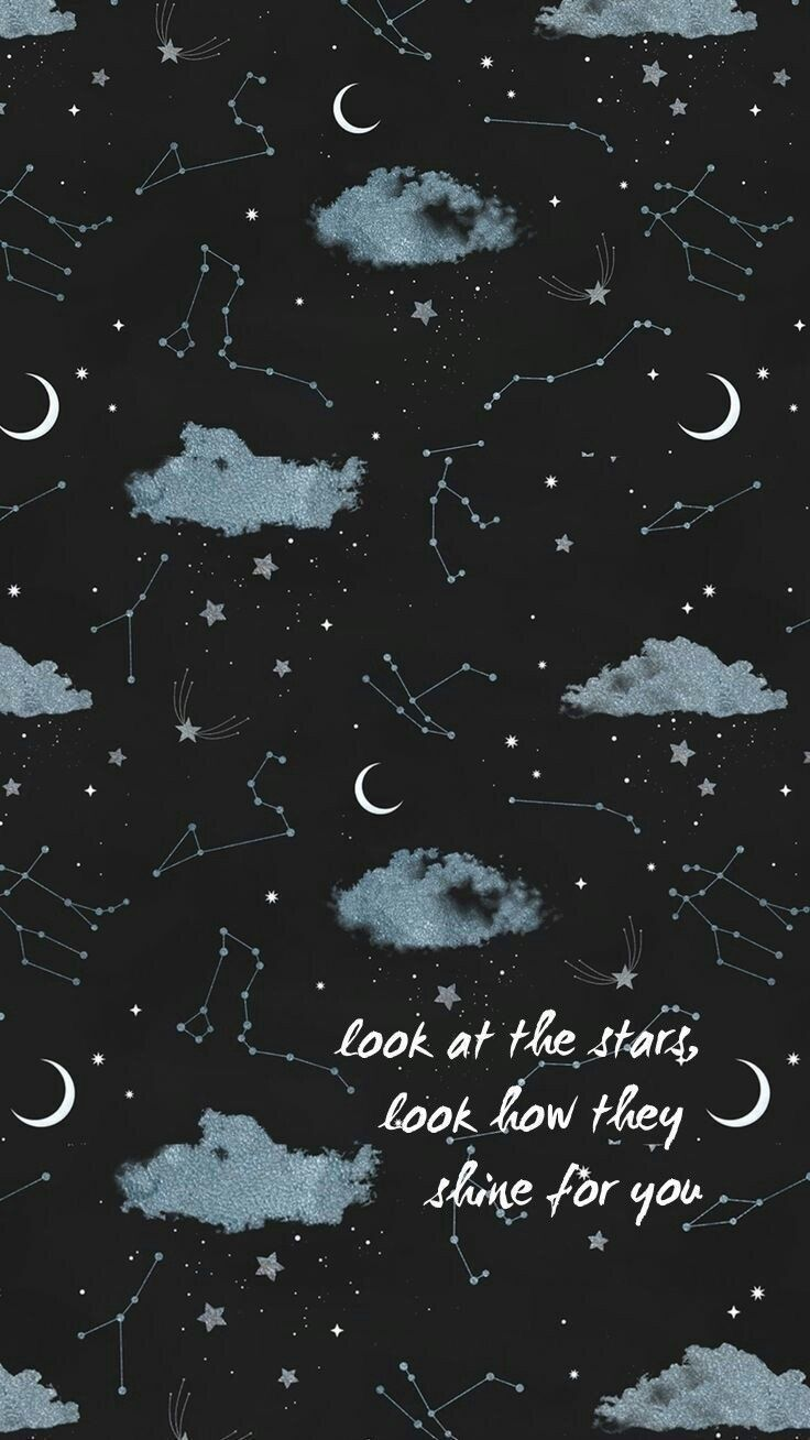 Iphone wallpaper aesthetic tumblr sky stars moon shine ...