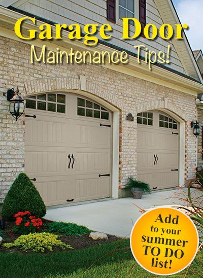1000 Images About Garage Door Maintenance Tips On