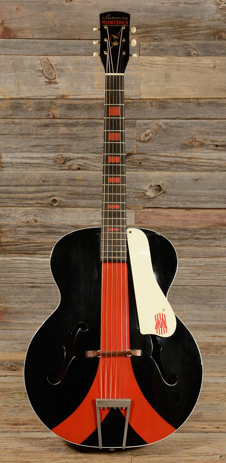 HARMONY Monterey Colorama Archtop Black/Red 1958 (s952)
