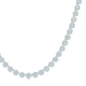 Tiffany Circlet necklace with diamonds in platinum, mini.