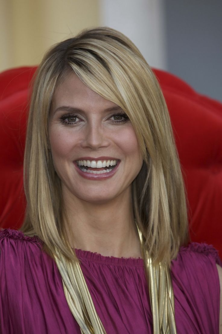 40 spectacular blunt bob hairstyles the right hairstyles - Long Bob Heidi Klum Thi Sd Hair Cut Is Fine But I Really Like The Previous One
