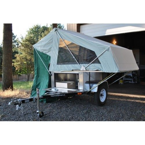 Explorer Box AL from Compact C&ing Concepts with MOAB Made in America Folding Tent Unit!  sc 1 st  Pinterest & 37 best Trailers images on Pinterest | Camp trailers Camping ...