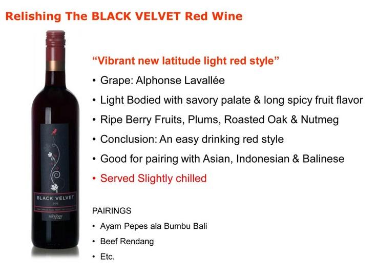 Sababay Black Velvet tasting notes