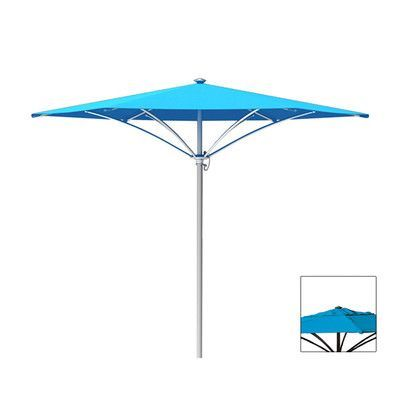 Tropitone Trace 8' Market Umbrella Fabric Color: Sparkling Water, Frame Finish: Parchment