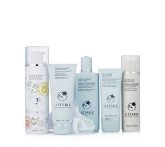 QVCUK TSV OFFER 29/07/17...  234071 - Liz Earle 5 Piece Invigorate Your Senses Skincare Collection  QVC PRICE: £60.00 - RRP: £88.00  TSV PRICE: £39.98 + P&P: £4.95  in 3 options  This five-piece skincare collection from Liz Earle features award-winning Cleanse & Polish Hot Cloth Cleanser in a fresh and fruity, limited edition Grapefruit & Patchouli fragrance, Skin Repair Moisturiser in a choice of formulations to suit your skin type, plus plenty more skincare delights.