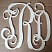"24"" Connected Vine wooden monogram wall hanging for weddings, birthdays, family rooms UNPAINTED. $25.75, via Etsy."