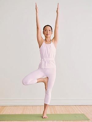 12 best fun variations on tree pose images on pinterest