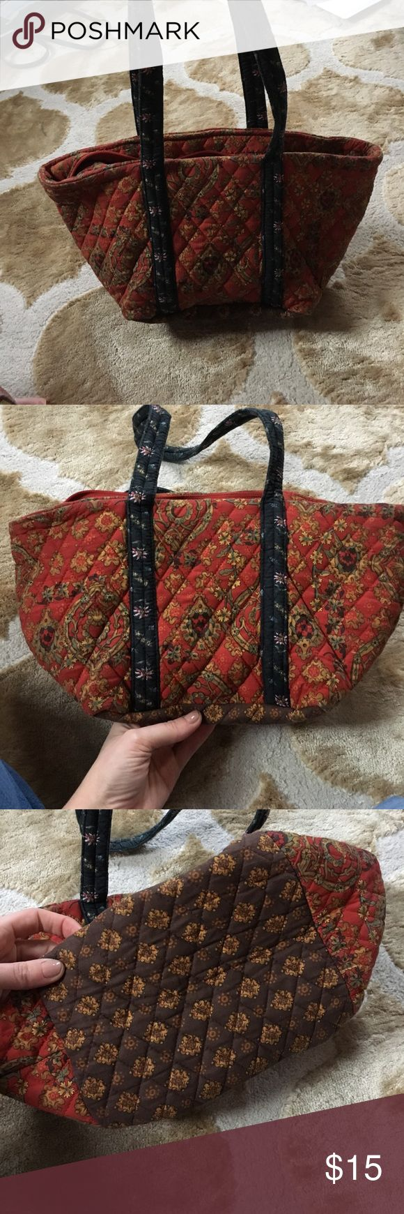 "Fall colors quilted bag 7.5"" x 8.5"" should bag. Cotton. Easily washed in the washing machine. Pet and smoke free home. Bags Shoulder Bags"