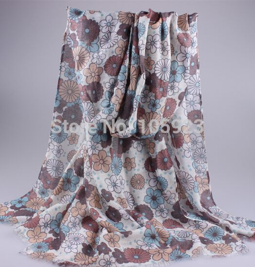print scarf large size 185*90cm 5 colors flower scarf hijab shawl fashionable 5pc/lot