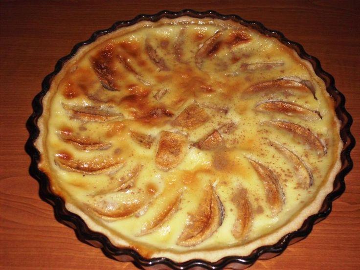Tarta alsaciana cu mere