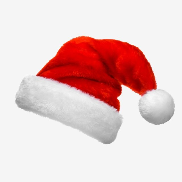 Santa Hat Cap Christmas Claus White Red Head Party Fluffy Fur Plush Decoration Costume Single Festival Hats Christmas Clipart Png Images Christmas Pictures Png
