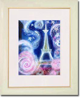販売絵画 新月紫紺大作 タイトル「パリ祭」