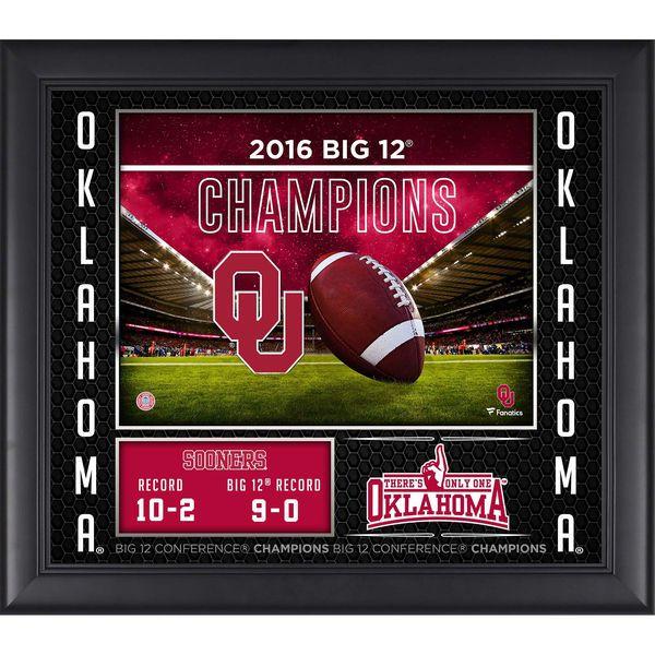 "Oklahoma Sooners Fanatics Authentic Framed 2016 BIG 12 Football Champions 15"" x 17"" Collage - $49.99"