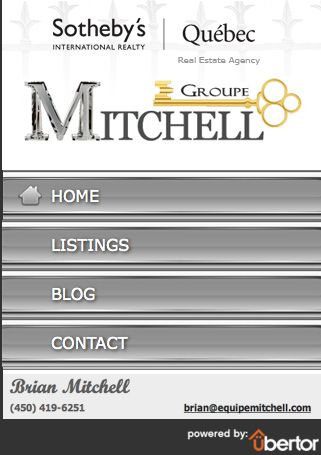 Custom Real Estate mobile website for Mitchell Groupe Realty