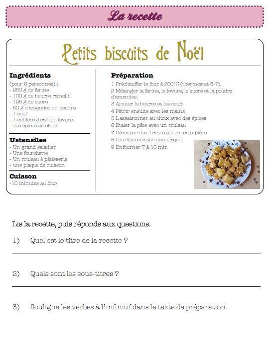 la recette fantastique-ce1 ce2 - Dans ma classe, il y a...