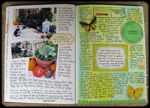 journal - I love how this feels. I am pretty sure I'm going to be doing something like this.