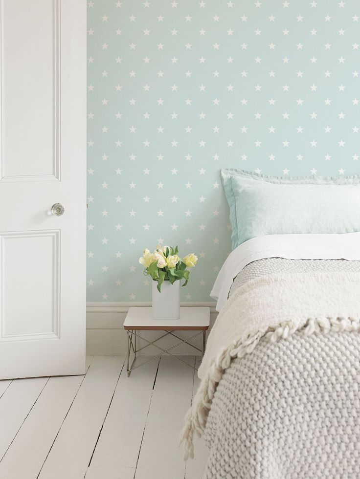 ...Home Focus February 2016. Galerie's Deauville Star - G23108 is a perfect Spring time wallpaper in refreshing mint green. Visit our website to see this and other colour ways! (Free A4 sample available)