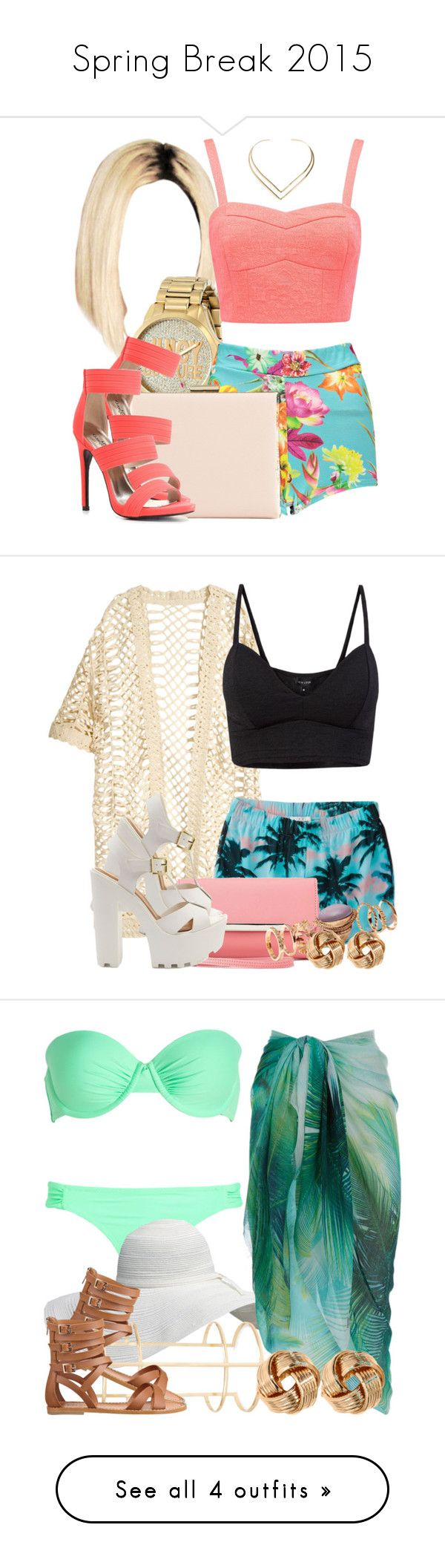 """""""Spring Break 2015"""" by miizz-starburst ❤ liked on Polyvore featuring Juicy Couture, Boohoo, Forever New, Natalie B, ALDO, Charlotte Russe, H&M, Forever 21, Accessorize and Nine West"""