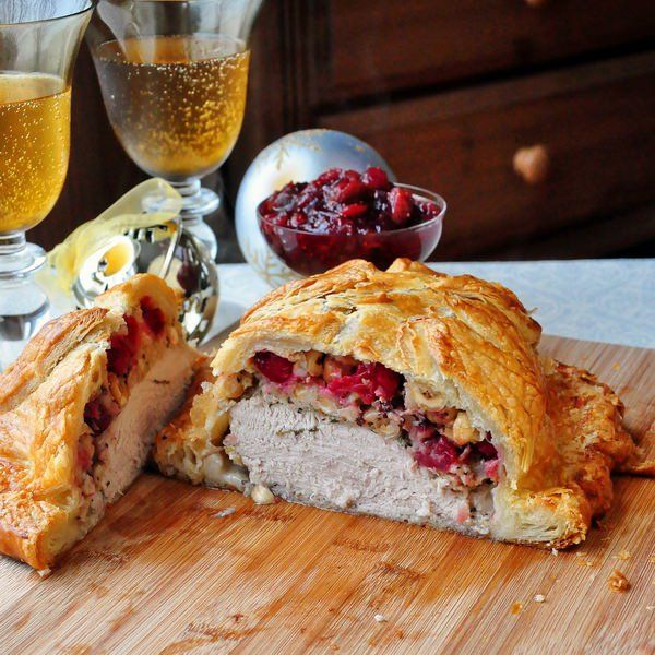 Golden turkey wellington - great alternative for holiday cooking when serving just a few people. So impressive & so easy using frozen puff pastry.