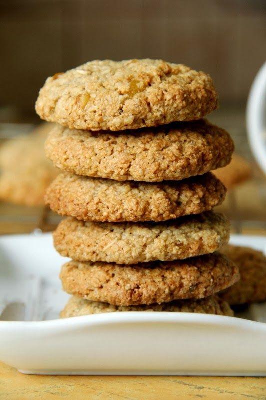 Dietetyczne pomarańczowe ciasteczka owsiane i o tym, jak zrobić własną mąkę owsianą; zdrowe ciasteczka