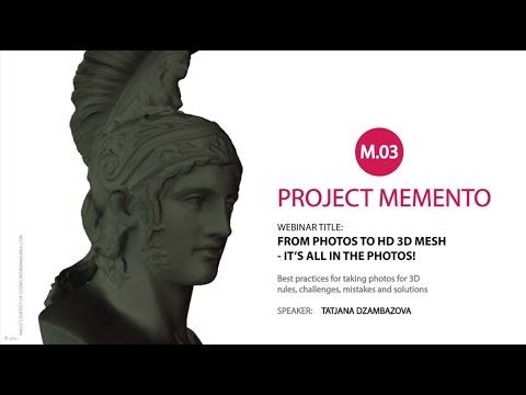 Autodesk Memento Webinar #3 - It's all in the Photos - YouTube