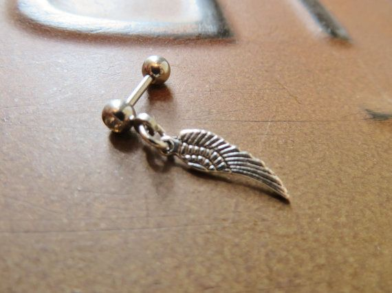 Silver Tone Angel Wing | 16 Gauge | Earring | By Azeetadesigns