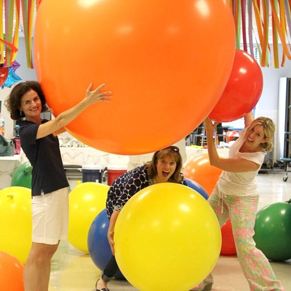 Summer Party Ideas   Giant Balloons brightboldbeautiful.com  Party Balloons and Favors by Leslie at @T K Promotions, Inc.