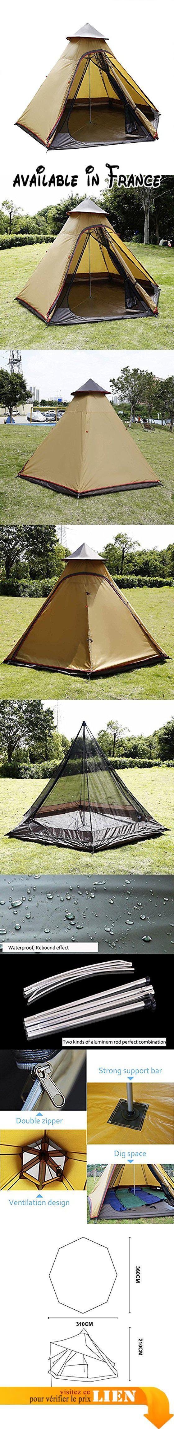 B075R8XXWF : Lonlier Oxford Tente Quechua Familiale Randonnée Pop-up Tent Imperméable Pyramide Camping Avec Coussin Anti Humidité. Fiche de la colonne d'eau: 5000 mm. Tôle de sol de la colonne d'eau: 100% étanche. Poids net de l'article approximativement: 9kg. Opportunité: Camping Extérieur Randonnée pédestre installation rapide et facile. Couleur: Blé