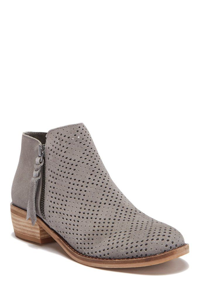 a3ec6dca1b9 Dolce Vita - Perforated Sydnie Bootie Suede Ankle Boots