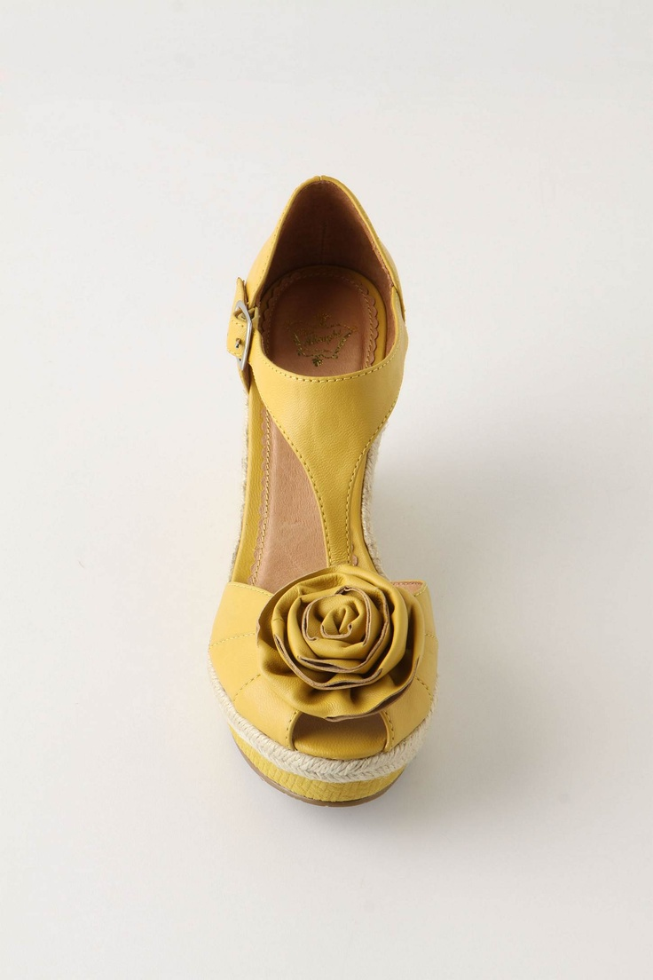 Yellow Rose Wedge  #Shoes