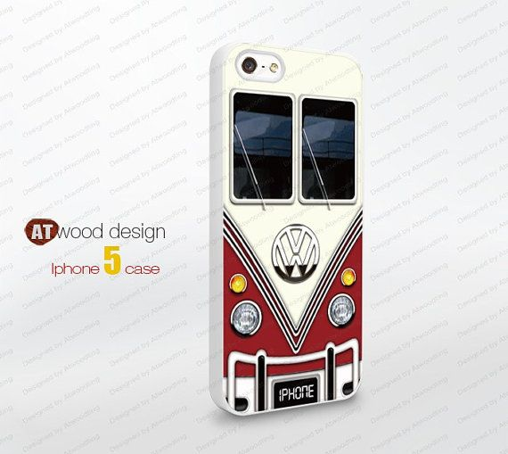 IPhone 4 case VW Minibus iphone 5 cases Hard case by Atwoodting, $6.99