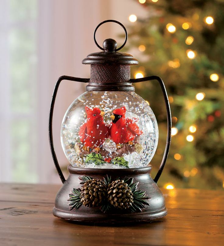 48 Christmas Musical Snow Globes Images Pinterest Globe Lantern Cardinals