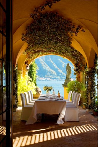Lake Como, Italy. Would be fun entertaining with that view.