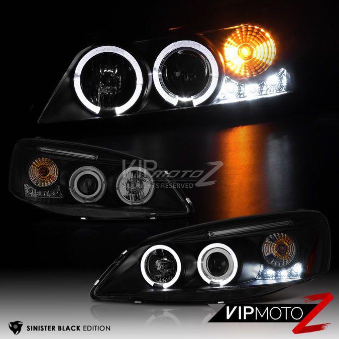 """SINISTER BLACK' 2005-2010 PONTIAC G6 GTP GXP Smoke DAYTIME STRIP Headlight Lamp #VIPMOTOZ"