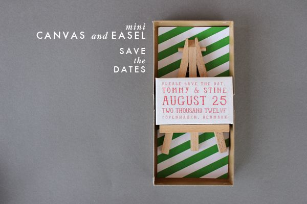 DIY: Mini Canvas and Easel save the dates!