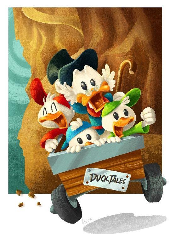 DuckTales by Louis Davilla Wiyono - Print available!  #Disney #art #illustration