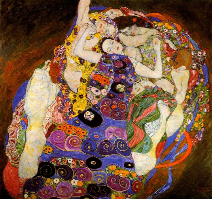 Klimt. Saw this in person at the Prague Museum of Art. It was a total surprise to see a Klimt there and my heart skipped a beat when I came upon the huge canvas!