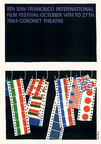 Saul Bass poster Coronet Theatre, San Francisco, 1964