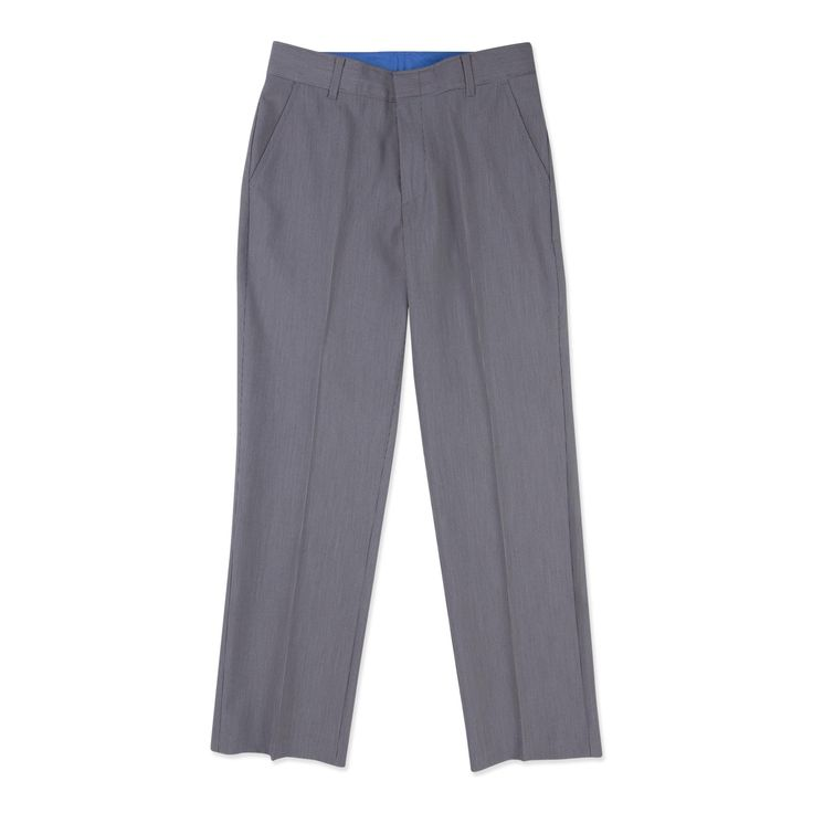 Lay the foundation for his polished profile with these boy's straight leg dress pants by Dockers. A classic suit separate, these versatile heathered slacks keep him looking sleek. Styled with slant hip pockets and a flat front, these traditional trousers are a must for your little man.
