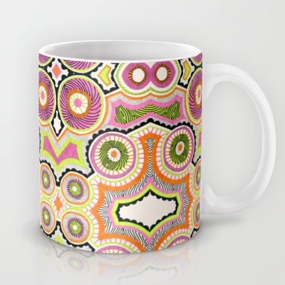Brighten up your morning routine with the Bubblegum Hypnosis mug by Liz Nehdi.  FREE worldwide shipping AND $5 off ALL items in the Liz Nehdi shop - including mugs, tote bags, iPhone and iPad cases  skins, stationery and more.  You must use this link to access the promotion: http://society6.com/LizNehdi?promo=efd5f6  The fine print: Free Shipping does not apply to Framed Prints, Stretched Canvases or Throw Pillows with inserts. This offer expires at midnight PST on Sunday, Dec. 8.