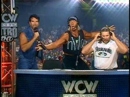 NWO TAKEOVER WCW NITRO. Scott Hall, Hulk Hogan and Kevin Nash
