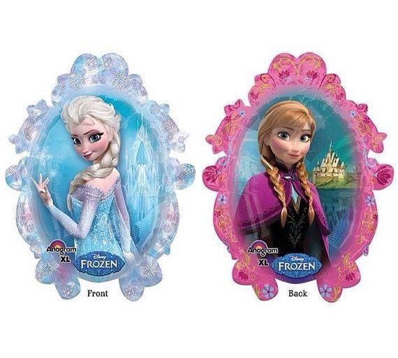 Frozen ballons Hey, I found this really awesome Etsy listing at https://www.etsy.com/listing/177471392/disney-frozen-elsa-anna-round-amscan