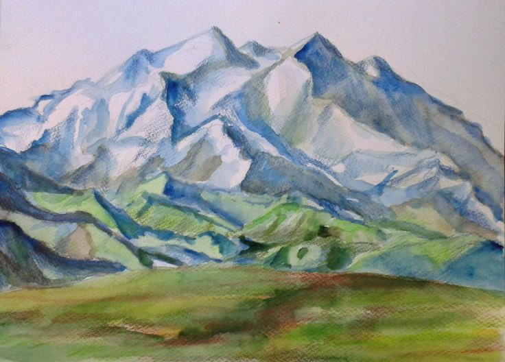 Mountains, aquarells, 2016
