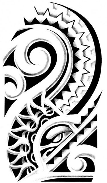 Polynesian Tattoo Designs - Not bad for a half sleeve. So many decisions...