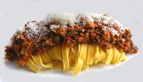Spaghetti Bolognese. A creation by Heston Blumenthal.