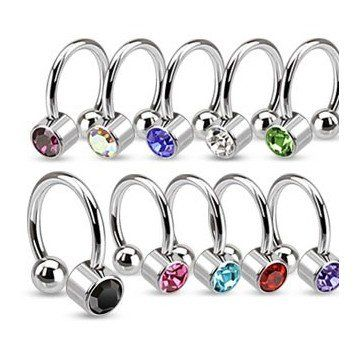 Hufeisenring für Helix oder Tragus Piercing - 10 Farben wählbar noch viele weitere Piercingringe findest du bei uns im Onlineshop » seit 2003 online