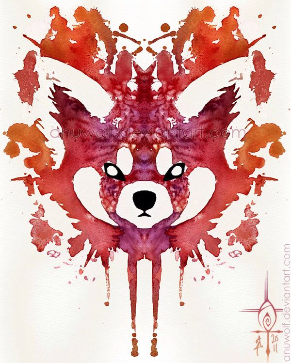 Watercolour Red Panda.