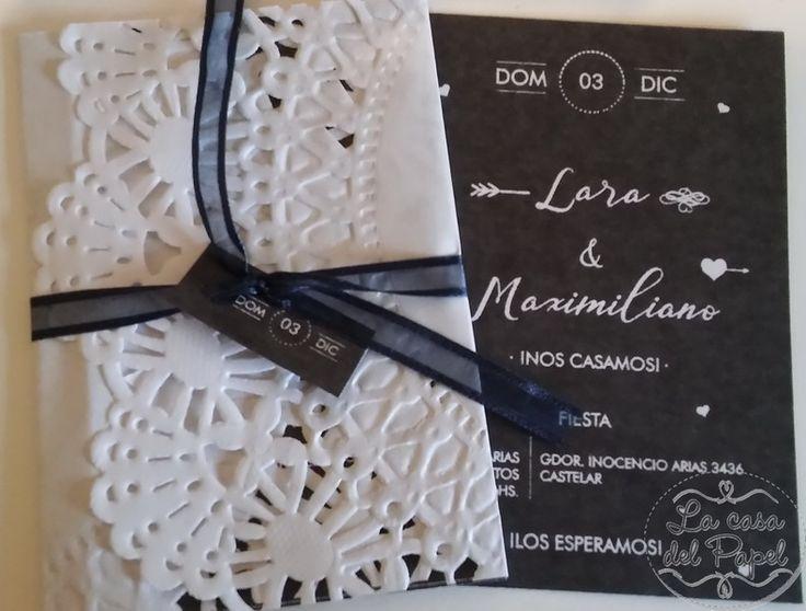 #15años #casamiento #boda #participaciones #invitaciones #azulyblanco